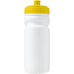 100% recyclable plastic drinking bottle (500ml), Yellow (Gourd)