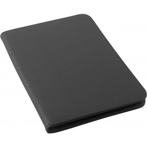 A4 Zipped PU conference folder, black (8212-01CD)