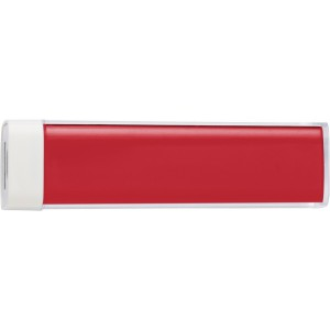 ABS power bank with 2200mAh Li-ion battery, Red (4200-08)