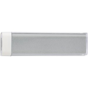 ABS power bank with Li-ion battery, Silver (4200-32CD)