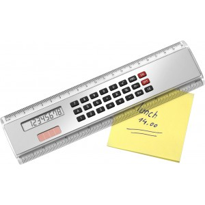 ABS Ruler (20cm) with calculator, Silver (2917-32)