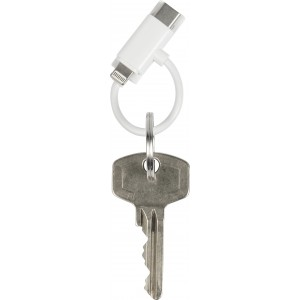 ABS USB cable on key ring, white (8489-02)