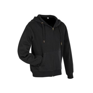 Active Sweatjacket Hooded Sweatjacket, Black Opal, L (ST5610.BLO)