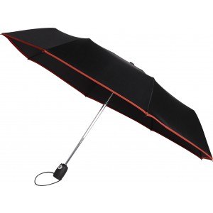 Automatic pongee (190T) foldable umbrella, Red (4939-08)