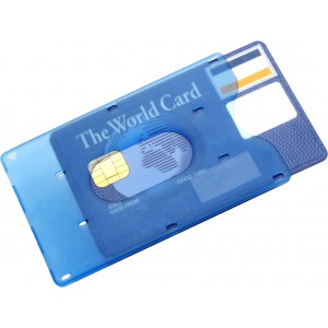 Bank card holder for one card, Pale blue (8358-18)