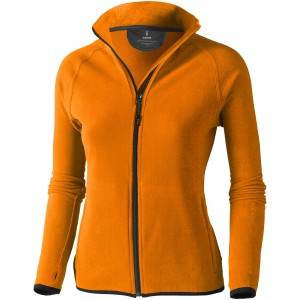 Brossard micro fleece full zip ladies jacket, Orange (3948333)