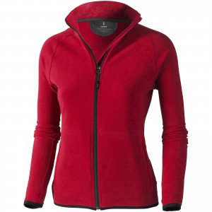 Brossard micro fleece full zip ladies jacket, Red (3948325)