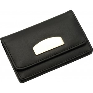 Business card holder, black (8717-01)
