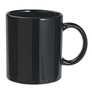 Ceramic mug, 0.3 ltr, black (47003)