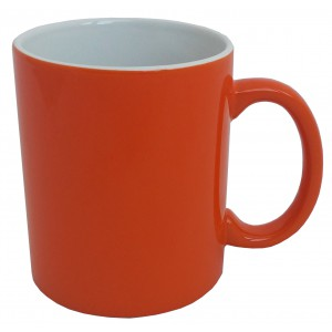 Ceramic mug, 0.3 ltr, orange (47010)
