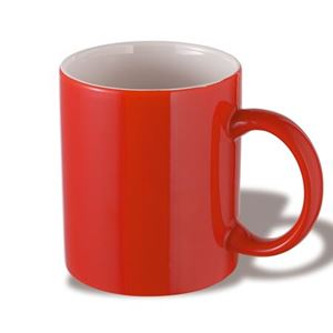Ceramic mug, 0.3 ltr, red (47005)