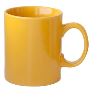 Ceramic mug, 0.3 ltr, yellow (47008)
