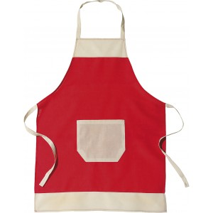 Cotton apron, Red (6198-08)