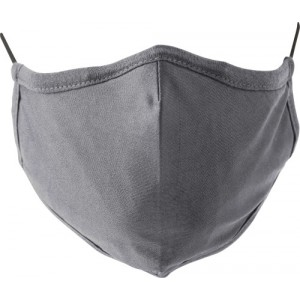Cotton mask with 7 layers, grey (423316-03)