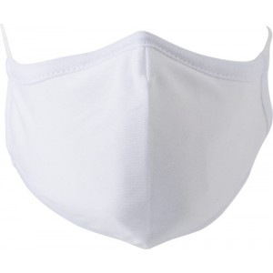 Cotton mask with 7 layers, white (423316-02)
