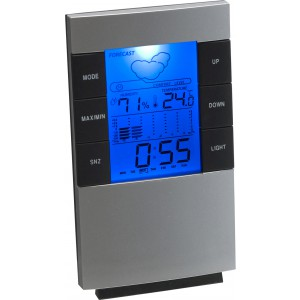 Desk or wall weather station, Silver (4789-32CD)