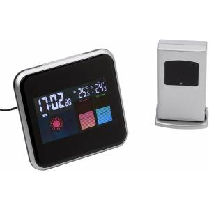 Digital weather station, black/silver (Thermometer)