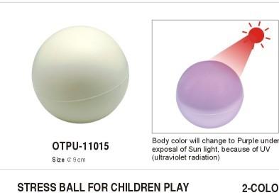 Stresszlabda UV-fényre változó színnel