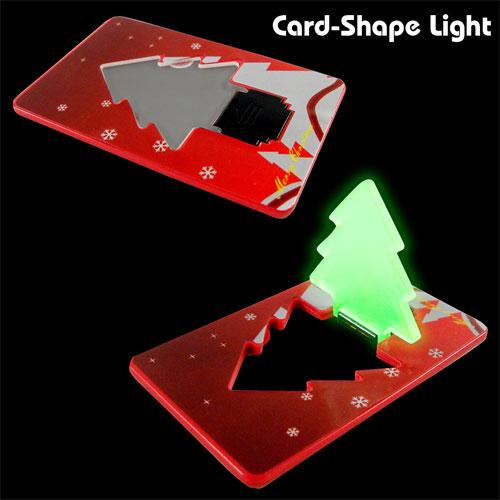 Időszerű fény bankkártya méretben