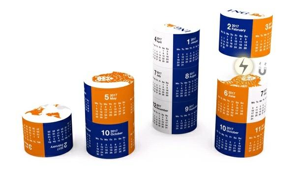 Mágneses asztali naptár