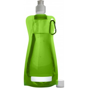 Foldable water bottle (420ml), light green (7567-29CD)