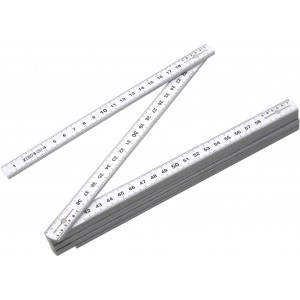 Folding ruler, 2 meters., White (6632-02CD)