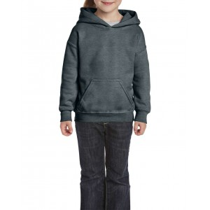 Gildan Heavy Blend Youth Hooded Sweatshirt, Dark Heather, XS (GIB18500DH)