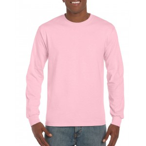 Gildan Ultra Cotton Adult Long Sleeve T-shirt, Light Pink, 2 (GI2400LP)