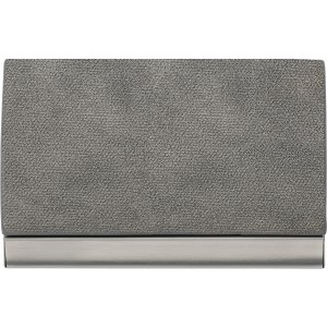 Horizontal, curved business card holder, Grey (7229-03)