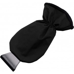 Ice scraper, polyester glove, Black (5807-01CD)