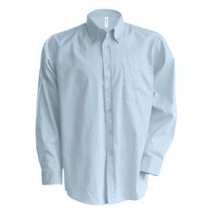 Kariban Easy Care Long Sleeve Shirt, Oxford Blue, 2XL (KA533OB)