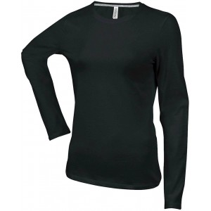 Kariban Ladies Long Sleeve T-shirt, Black, L (KA383BL)