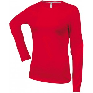 Kariban Ladies Long Sleeve T-shirt, Red, 2XL (KA383RE)