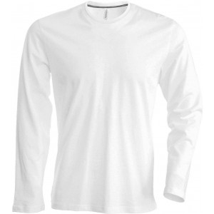 Kariban Men's Long Sleeve T-shirt, White, 2XL (KA359WH)