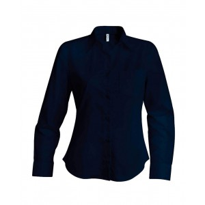 Kariban Poplin Shirt, Navy, 2XL (KA542NV)