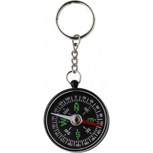 Key holder with compass, Black (2544-01)