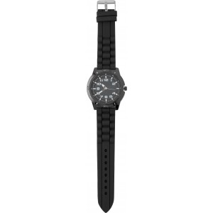Large, alloy and mineral glass watch for men, Black (6495-01)