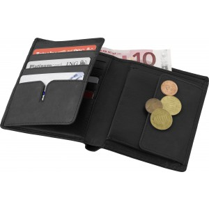 Leather Charles Dickens? wallet, Black (6312-01)