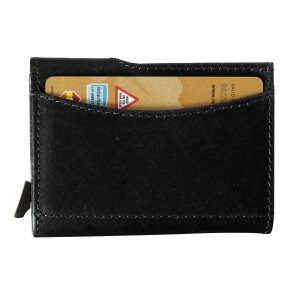 Leather wallet with RFID card holder, Black (8193-01)