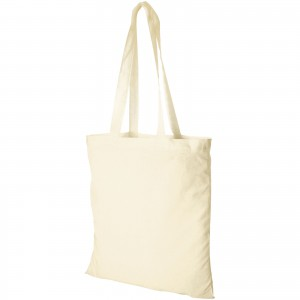 Madras 140 g/m2 cotton tote bag, Natural (12018100)
