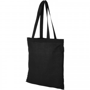 Madras 140 g/m2 cotton tote bag, solid black (12018101)