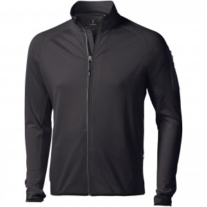Mani power fleece full zip jacket, solid black (3948099)