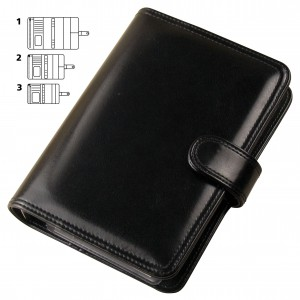 Mat imitation leather calendar, L,black (16001L)