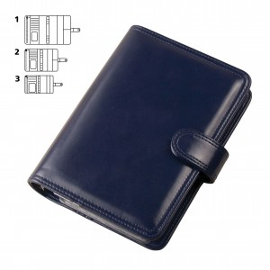 Mat imitation leather calendar, L,blue (16004L)