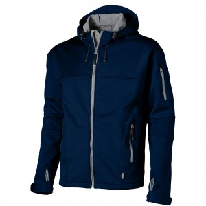 Match softshell jacket, blue, S (3330649)