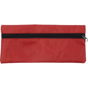 Material pencil case., Red (3598-08)