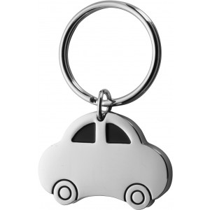 Metal, key holder, model 'car'., Silver (3615-32CD)