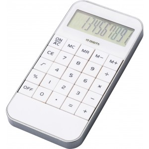 Mobile phone shaped ten digit calculator, White (1140-02)