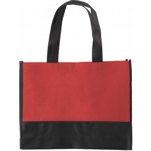 Nonwoven (80 gr/m2) shopping bag, red (0971-08)