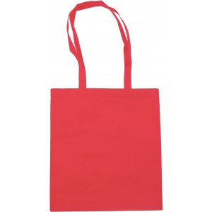 Nonwoven carrying/shopping bag, red (6227-08CD)